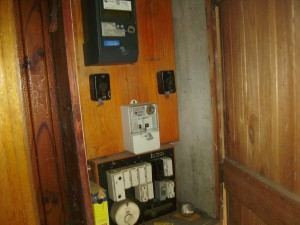 Meter box with old fuses and smart meter