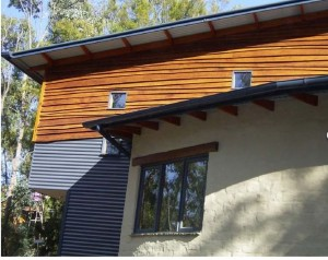 Cladding using radial timber sales weatherboards