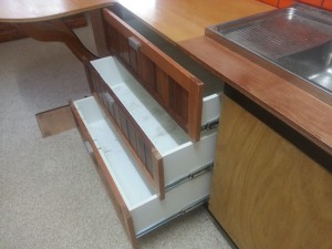 Three drawers added to significantly increase storage space