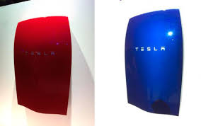 Different colours for Tesla Energy Powerwall battery packs