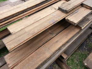Recycled floorboards