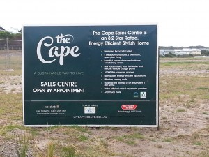 Live at the Cape introductory sign
