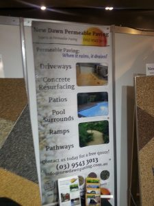 Permeable driveway materials on display at the Home show