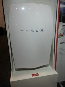 Tesla Powerwall on display at the Home Show