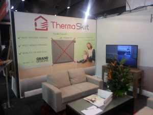 ThermaSkirt hydronic heating systems at the Home Show