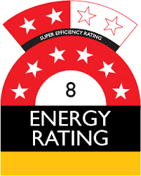 8 star plus energy rating from NatHERS