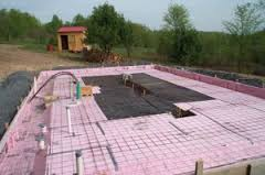Insulation under the concrete slab