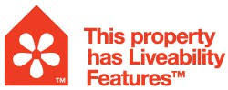 Liveability features logo for houses that meet the minimum requirements