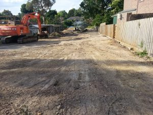 New stormwater drain pipes installed