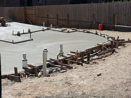 Finished concrete slab