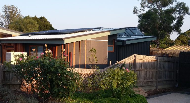 Solar panels installed on the north and south facing roofs